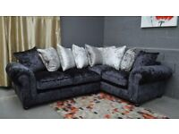 Laurence Llewelyn-Bowen Scarpa Fabric Standard Back Double Arm Right Hand Corner Group Sofa
