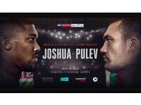 Anthony Joshua AJ vs Pulev Boxing VIP C BELOW FACE VALUE