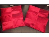 CUSHIONS WITH COVERS AND FILLING 4 IN TOTAL BURGUNDY RED