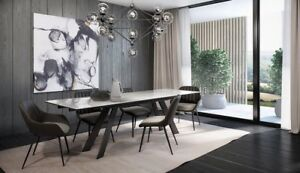 Table neuve  extensible en marbre