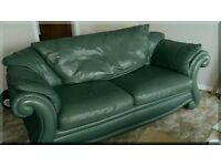 Large 3 Seater Designer Sofa - in Quality Leather