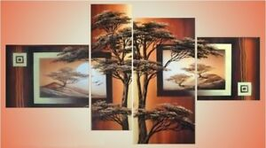 4023-Brand new  Hand made  landscape on canvas ( not printed)