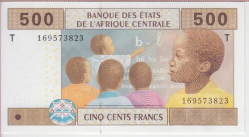 Central African States Banknote P106T Congo 500 Francs , UNC