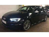 Black AUDI S3 SALOON 2.0 T FSI Petrol QUATTRO FROM £114 PER WEEK!