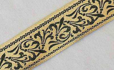 Fleur Trim (Jacquard Trim Antique Reproduction Fleur De Lis DIY Sewing)