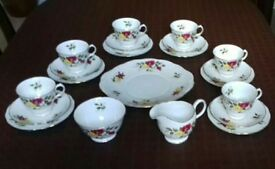 Richmond Rose bone china tea set