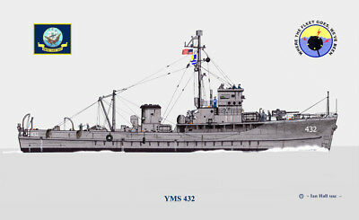Uss Yms Minesweeper  1 Stack  Us Navy