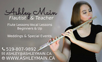 Flute and Vocal Lessons