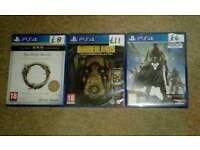 Set of 3 ps4 games