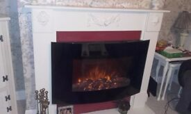 realistic log/flame effect electric fire