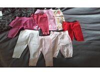 0-3 Months baby girls trouser & leggings bundle