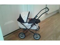 Mamas and Papas Mimi Polkadot dolls pram