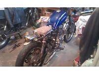 Sukida sk 125-4 unfinished project bike, scrambler style rat bobber Suzuki GN copy