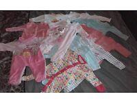 Newborn baby girls clothing sleep suit bundle