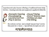 Domestic Cleaner Kings Lynn - Hunstanton area