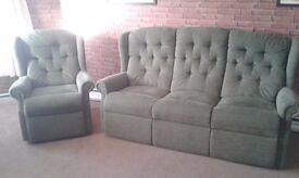 Settee & Armchair very comfortable