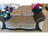 2&4 Seater DFS Cream and chocolate!