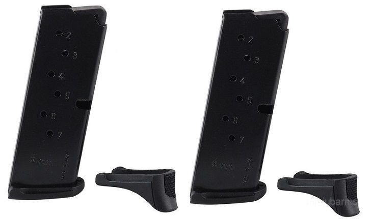 Ruger Lc9 Lc9s Ec9s 9mm 7 Round Magazine Oem 7rd Mag 90642 Value 2 Pack