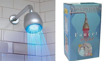 Color LED Light Indicated Temperature Shower Head