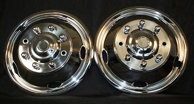 Ford F53 19.5 8 Lug Rv Motor Home Stainless Steel Wheel Simulator Cover Set 2