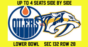 Friday! - Edmonton Oilers vs. Nashville Predators - Lower Bowl