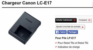 Canon chargeur LC-E17