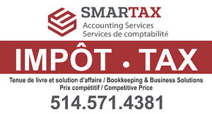 IMPÔT - TAX - Accounting, Bookkeeping, GST-QST Filing...etc West Island Greater Montréal image 1