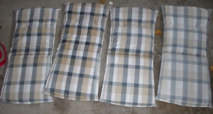 4 Patio chair cushions Kitchener / Waterloo Kitchener Area image 1