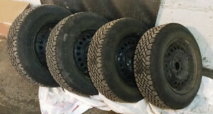 14 in snow tires and rims - quick sale!