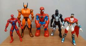 Marvel figure bundle - vintage & modern