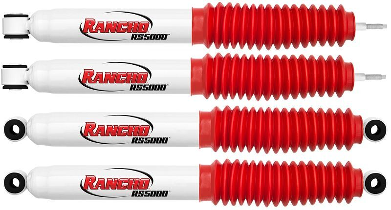 Rancho Front/rear Rs5000 Shock Absorbers Kit For 00-04 2wd/4wd Nissan Xterra