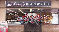 Front Retail for Johnnys Meats, Kelowna