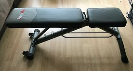 Bodymax adjustable weight bench with barbell and weights