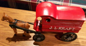 J.L. Kraft Cast Iron Delivery Wagon