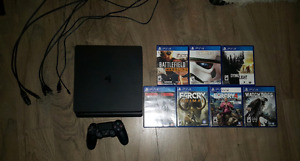 Ps4 Slim 500GB with 7 games.