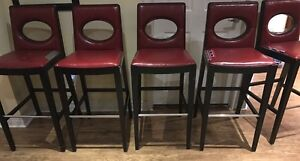 6 Bar Height chairs