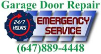 FAST Garage Door Repair & Openers 647.889-4448