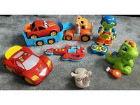 Bundle boys fun & interactive toys, cars, robot, dinosaur, guitar, truck, etc