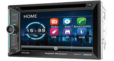 POWER ACOUSTIK DOUBLE DIN CD DVD 2DIN IN-DASH 6.5