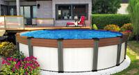 Fermeture pour piscine hors terre