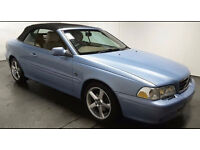 2005(05)VOLVO C70 2.4 GT TURBO AUTOMATIC CONVERTIBLE MET BLUE,NEW MOT,FSH,VERY LOW MILES,LOVELY CAR