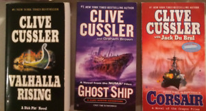3 Clive Cussler books (will seperate)