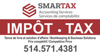 IMPÔT - TAX - Accounting, Bookkeeping, GST-QST Filing, Payroll..