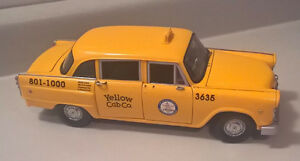 Vintage Diecast Checker Taxi Cab City of Los Angeles by Sunstar