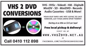 VHS2DVD VIDEO TAPE CONVERSIONS Coburg North Moreland Area Preview