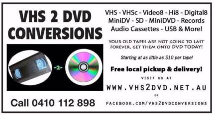 VHS2DVD VIDEO TAPE CONVERSIONS