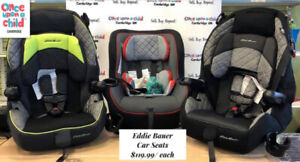 CAMBRIDGE LOCATION ONLY! New Eddie Bauer Car Seat's