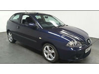 2007(07)SEAT IBIZA SPORT 1.4 MET BLUE,VERY LOW MILES,NEW MOT,CLEAN CAR,GREAT VALUE