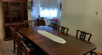 Authentic 1940s Mahogony Dining Set w/ China Cabinet