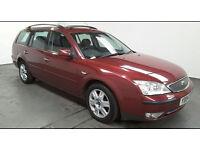 2004(04)FORD MONDEO 2.0 TDCi GHIA ESTATE MET RED,6 SPEED,130BHP,CLEAN CAR,GREAT VALUE